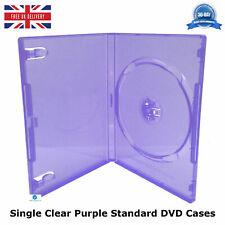 100 x VIOLA CHIARO dimensioni standard singolo CD DVD doppio clip per tenere caso DVD NUOVO