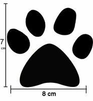6 x Large Cat Dog Paw Print Vinyl Wall Sticker Decals Car Van Bike Fridge Laptop