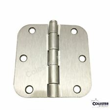 "Satin Nickel Interior Door Hinge 3.5"" x 3.5"" with 5/8"" corner radius 3 1/2 inch"