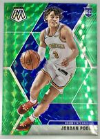 2019-20 Panini Prizm Mosaic Jordan Poole Silver Green Rookie Card RC GoldenState