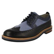 Scarpe classiche da uomo stringhi blu marca Clarks