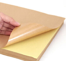 50 Blank A4 Self Adhesive KRAFT Brown Sticker Paper Silhouette Craft Sheet Stock