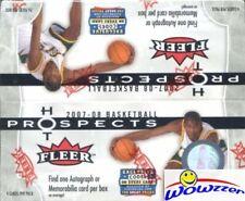 2007/08 Fleer Hot Prospects Basketball Factory Sealed 24 Pack Box-AUTOGRAPH/MEM