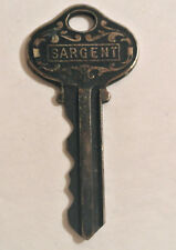 INTERESTING Vintage SARGENT Ornate Padlock KEY Numbered D717461 Collectible