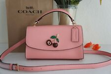 NWT COACH C1436 Tilly Satchel 23 Candy Pink With Cherry Handbag Purse Crossbody