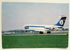 LOT Polish Airlines IL-62M official postcard first flight to New Delhi