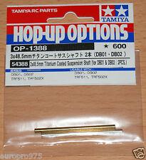 Tamiya 54388 3x48.5mm Titanium Coated Suspension Shaft (for DB01 & DB02 / 2 Pcs)