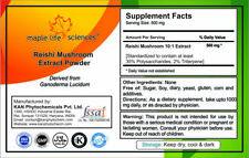 Ganoderma Lucidum Extract 10:1 Powder (Reishi Mushroom) Pure & High Quality PE