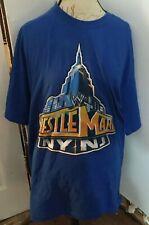 WWF WWE New York Authentic Size XL Blue Shirt