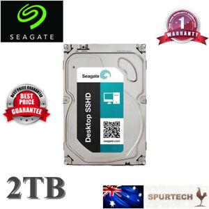 New Seagate 3.5'' SSHD Gen3 SSD Hybrid 2TB Desktop Hard Drive OEM