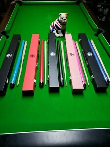 Childs Childrens Kids quality Pool Snooker Cue In Hard carry Case Colour Choice