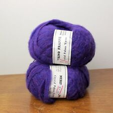 2 Skeins of Crystal Palace Merino Frappe Wool Yarn 122 Purple Straw Into Gold