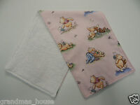 Burp Cloth - Pooh and Friends - Pink - 1 Only Toweling Back GREAT GIFT IDEA