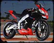 APRILIA Rs4 125 12 A4 Metal Sign moto antigua añejada De