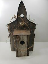 Reclaimed Barnwood And Tin Birdhouse Condo 3 Family