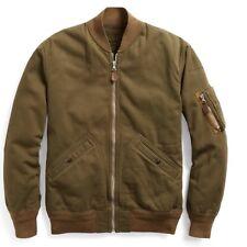 $590 RRL Ralph Lauren Japanese Herringbone Twill Cotton Bomber Jacket-MEN- XL