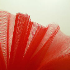 Bright Scarlet Red Fine Tulle fabric 300cm wide - by the M - Wedding, Christmas