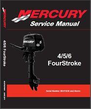 Mercury 4 / 5 / 6 FourStroke Outboard Motor Service Repair Manual CD