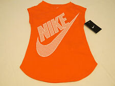 Nike active The Nike TEE t shirt youth girls 6 5-6 years 3MA783 N50 mango NWT*^