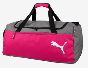 Puma Fendamentals Medium Duffel Bags Running Sports Black GYM Bag Sacks 07552801