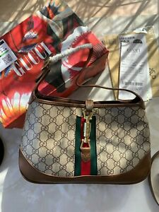GUCCI Jackie 1961 small shoulder bag GG supreme canvas EXCLUSIVE NEW
