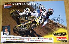 RYAN DUNGEY Signed Rockstar SUZUKI Poster 4X SX Champion