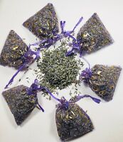 6 French Lavender Sachets Bags Drawer Deodorizer Moth Control