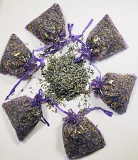 Set of 6 Lavender Sachets Bags Dried Flower Buds Drawer Deodorizer Moth Control