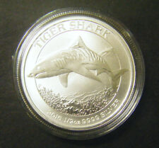 2016 Australian Tiger Shark 1/2 oz Silver Bullion Coin 0.5 w Capsule 50 cent