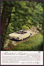 1962 Original Vintage Ford Thunderbird Convertible Car Photo vintage print ad