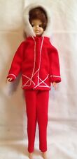 Vintage Princess Grace 1968 Plastic Doll red Clothing Outfit brunette Bubble Cut