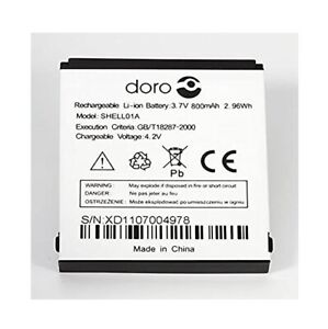 Genuine SHELLO1A Battery For Doro Phone Easy 410 520 606 611 612 631 632