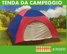 TENDA CAMPEGGIO CANADESE 8 POSTI MARE CAMPING ZANZARIERA SACCA TRASPORTO GITE