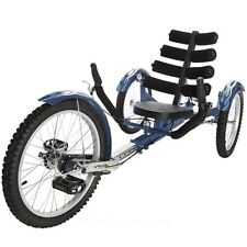 "New Mobo Shift 20"" 3 WHEEL Trike Tricycle RECUMBENT Bike with reverse Blue"