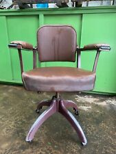 Vintage Industrial Tansad Chair With Arms Dated 1963 Rare Chair !! WEST YORKS
