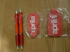 Genuine Aprilia keyrings & pens RSV4 TUONO RS125 SHIVER DORSODURO RSV MILLE SXV