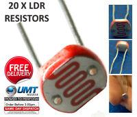 20 x LDR Light Dependent Resistors 5mm Photoresistor G5528 Arduino Raspberry PI