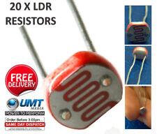 20 x LDR de Prueba Resistor dependiente de la luz Photoresistor Arduino Raspberry PI G5528 A205