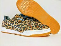 Adidas Originals Continental 80 Pony Hair Leopard Print Mens Size 10 F33994