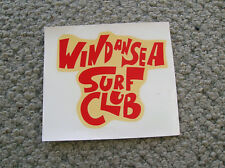 vintage rare wind an sea surf club surfboard decal surfing 1960s water slide