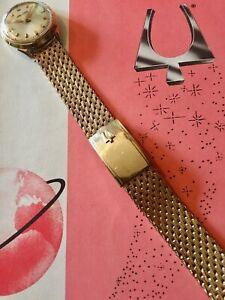 Kreisler USA Textured Mesh Band for gold vintage Bulova Accutron Spaceview watch