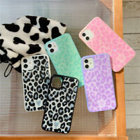 For iPhone 12 Pro Max 11 X Bling Glitter Leopard Grain Shockproof TPU Case Cover