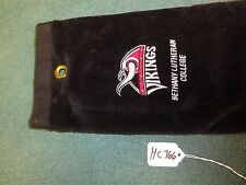 "Vikings Bethany Lutheran College 100% Cotton BLK Golf Towel  Approx 25.5""  HC766"
