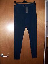 BNWT Jane Norman sexy Bleu Marine Brillant Pantalon Disco Disco Leggings
