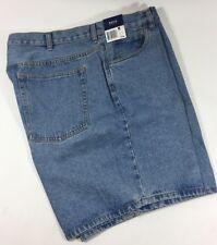 Basic Editions Light Blue Soft Cotton Flat Denim Jean Work Shorts Men's 42W NWT