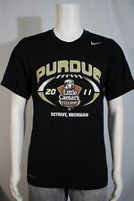 Nike Dri-Fit Men's SMALL Purdue 2011 Little Caesars Pizza Bowl Black SS T-shirt