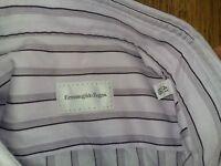 Ermenegildo Zegna striped Regular Fit mens dress shirt size 41/16