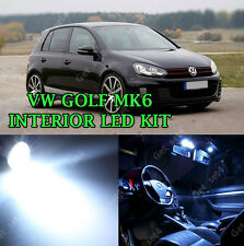 VW GOLF MK6 TDI TSI 2008-2014 INTERIOR XENON WHITE LIGHT BULBS LED KIT CANBUS