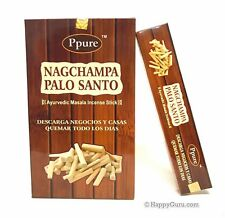 """Palo Santo"" Ppure Nag Champa Natural Masala Incense Sticks (12x15gm Packs) 180g"