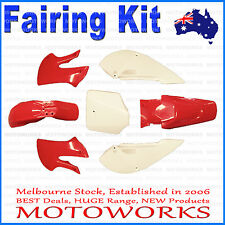 Plastics Guard Fairing Fender Kit KLX STYLE PIT PRO Trail Dirt Bigfoot Bike RED